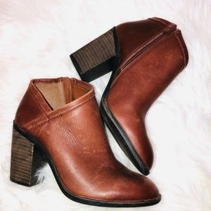 Lucky Brand Brown Booties 8.5